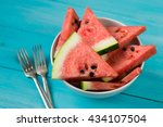 Slices Of Watermelon In A Bowl...