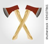 wooden axe on a white...