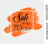 sale season sale up to 70  off... | Shutterstock .eps vector #434113429