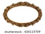 a picture frame  isolated on... | Shutterstock . vector #434115709