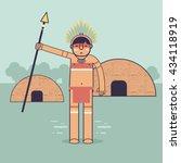 native brazilian  indian icon.... | Shutterstock .eps vector #434118919
