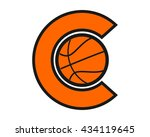 initial c basketball icon | Shutterstock .eps vector #434119645