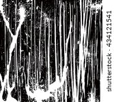 ink grunge texture with spots... | Shutterstock .eps vector #434121541