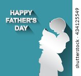 happy fathers day vector... | Shutterstock .eps vector #434125549