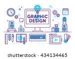designed banners for web... | Shutterstock .eps vector #434134465