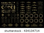 wicker lines and decor elements ... | Shutterstock .eps vector #434134714