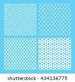the set of traditional arabian... | Shutterstock .eps vector #434136775