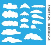 collection of white clouds of... | Shutterstock .eps vector #434138539