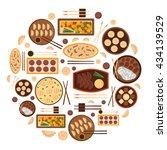 vector illustration with... | Shutterstock .eps vector #434139529