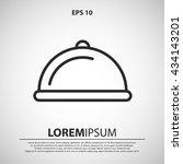 restaurant dish icon....   Shutterstock .eps vector #434143201