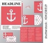 vector template for brochures ... | Shutterstock .eps vector #434158519