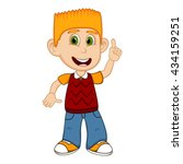 children pointing and wearing... | Shutterstock . vector #434159251