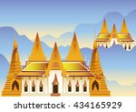 temple in thailand vector | Shutterstock .eps vector #434165929