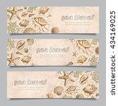 set of three horizontal banners ...   Shutterstock .eps vector #434169025