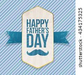 happy fathers day festive... | Shutterstock .eps vector #434175325