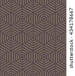 geometric fine abstract vector... | Shutterstock .eps vector #434178667