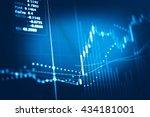 close up of finance business... | Shutterstock . vector #434181001