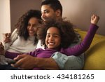 african american family... | Shutterstock . vector #434181265