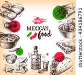mexican traditional food... | Shutterstock .eps vector #434186791