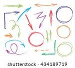 set of hand drawn colorful... | Shutterstock .eps vector #434189719