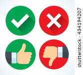 yes or no icons | Shutterstock .eps vector #434194207