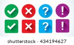 yes or no icons | Shutterstock .eps vector #434194627