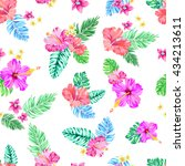 tropical pattern. seamless... | Shutterstock .eps vector #434213611