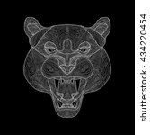 hand drawn portrait of tiger | Shutterstock .eps vector #434220454