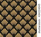 art deco seamless vintage... | Shutterstock .eps vector #434224045