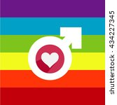 colorful rainbow heart with... | Shutterstock .eps vector #434227345