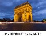 arc de triomphe in paris  france   Shutterstock . vector #434242759