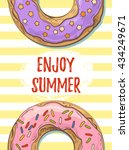 enjoy summer card with two... | Shutterstock .eps vector #434249671
