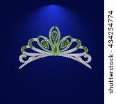 illustration tiara crown women... | Shutterstock .eps vector #434254774