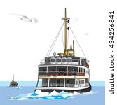 steamship vector | Shutterstock .eps vector #434256841