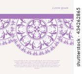 vector card template with... | Shutterstock .eps vector #434262865