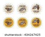 cacao logo. cacao bean sign.... | Shutterstock .eps vector #434267425