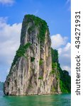 mountain island in halong bay ... | Shutterstock . vector #434271931