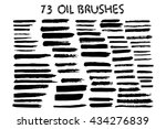 vector set of grunge brush... | Shutterstock .eps vector #434276839