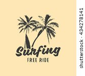 surfing print t shirt  icon ... | Shutterstock .eps vector #434278141