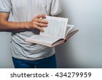 the man with a book | Shutterstock . vector #434279959