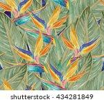 watercolor seamless pattern... | Shutterstock . vector #434281849