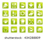 collection of food icons | Shutterstock .eps vector #434288809