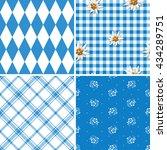 bavarian pattern collection  | Shutterstock .eps vector #434289751