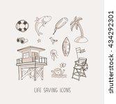 life saving hand drawn vector...   Shutterstock .eps vector #434292301