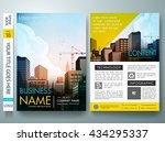 city concept in brochure layout.... | Shutterstock .eps vector #434295337