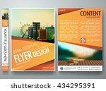 flyers design template vector.... | Shutterstock .eps vector #434295391
