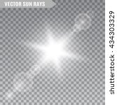 sun rays on transparent... | Shutterstock .eps vector #434303329
