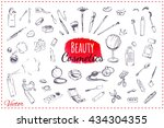 sketch icons makeup. isolated... | Shutterstock .eps vector #434304355