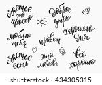 lettering quotes calligraphy... | Shutterstock .eps vector #434305315