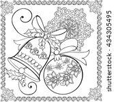 hand drawing christmas bell ... | Shutterstock .eps vector #434305495